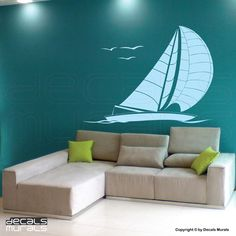 Wall decals SAILBOAT large wall art stickers by by decalsmurals
