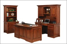 Liberty Classic Executive Office.  Shown in Cherry.   Available in a variety of stains & woods.