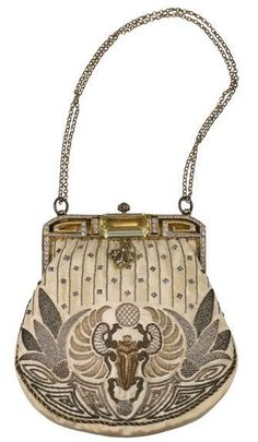 Egyptian Revival Purse - 1920's - @Mlle