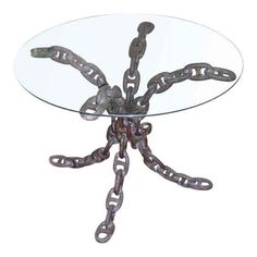Wrought Iron Chain Link Table Base