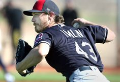 Cleveland Indians Josh Tomlin, during pitchers infield practice, at spring training in Goodyear, Arizona on Feb. 20, 2017.  (Chuck Crow/The Plain Dealer)