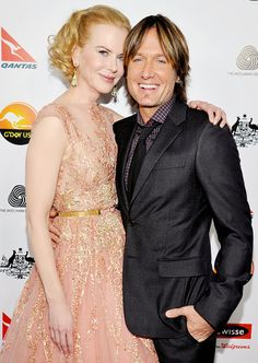 Nicole Kidman and Keith Urban hung tight at the Jan. 12 G'Day USA gala at JW Marriot in L.A.