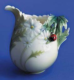 franz porcelain ladybug creamer