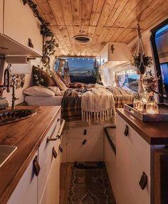 Van Conversion Interior, Van Interior, Bus Living, Tiny House Living, Camper Life, Camper Van, Bus Life, Campers, Kombi Home