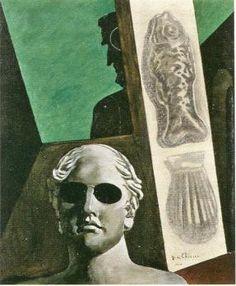 ジョルジョ・デ・キリコ 「ギヨーム・アポリネールの予兆的肖像」 1914年