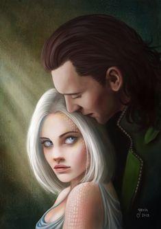 [commission] Loki and Freya by *slugette on deviantART
