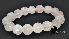 Bransoleta+Yeve+Kwarc+różowy+faset++kule+12+mm+w+Yeve+jewelry+na+DaWanda.com