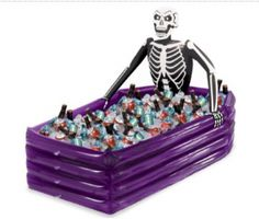 skeleton cooler Who says costumes are just for kids? Adults can enjoy costume parties, too, particularly at Halloween. Here are some ideas and tips to help you pull off a fun adult costume party.