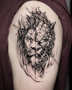 Lion and Foo Dog (Chinese guardian lions) Done at B K.inkstudio Killer Silver In. - Lion and Foo Dog (Chinese guardian lions) Done at B K. Hand Tattoos, Lion Head Tattoos, Mens Lion Tattoo, Leo Tattoos, Forearm Tattoos, Animal Tattoos, Arm Band Tattoo, Body Art Tattoos, Tattoos For Guys