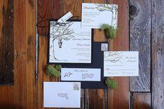 Rustic tree with lantern wedding invitation by paperdollsdesigninc, $7.50