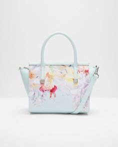 Ted Baker Honora Hanging Gardens Satchel In Mint Leather Purses, Leather Handbags, Mint Bag, Small Tote Bags, Leather Gifts, Satchel Handbags, Satchel Bag, Hanging Gardens, Handbag Accessories