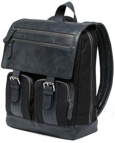 Backpack for Men | Giorgio Fedon 1919 Michael Wong Backpack - Dark Grey/Black | @ KJ Beckett