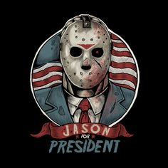 jason voorhees Make America Fear Again! Retro Horror, Funny Horror, Vintage Horror, Horror Cartoon, Jason Voorhees, Jason Friday, Friday The 13th, Horror Posters, Horror Icons