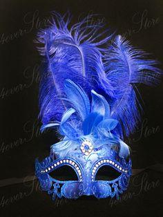 Royal Blue Masquerade Mask with Diamonds, Mardi Gras Masquerade Mask, Jubilee Costume Mask, Great Gatsby Dress Mask, Las Vegas Bachelorette by 4everstore on Etsy https://www.etsy.com/listing/203307948/royal-blue-masquerade-mask-with-diamonds