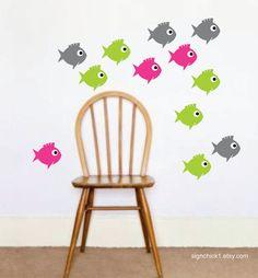 Fish Wall Decal Set