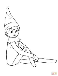 elf on the shelf coloring pages google search