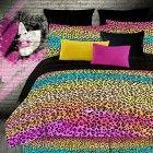 Rainbow Leopard Bright Queen Girls Kids Comforter Set Piece Bed In A Bag) Kids Comforter Sets, Baby Crib Bedding Sets, Teen Bedding, Queen Bedding Sets, Duvet Sets, Leopard Bedding, Animal Print Bedding, Bed In A Bag, Bed Design