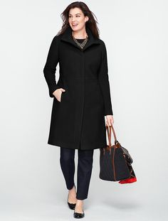 Talbots - Plush Twill Walking Coat With Full Lining | Outerwear |