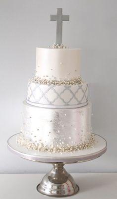 Pretty Parties - Custom Cakes CH-14 Christening / Communion / Confirmation Cake www.prettyparties.net.au