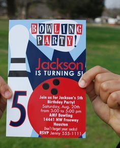 Boys Bowling Invitation