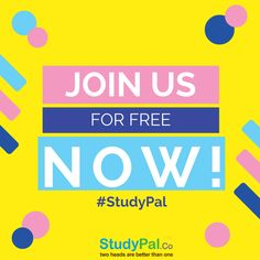 Sign Up at #Studypal today to #Join thousands of others who are finding their #Studypals for #GMAT, #GRE, #LSAT, #CFA, #MCAT, #CAT and many more!!