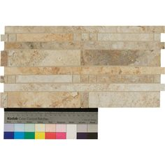 """Found it at Wayfair - Forge Staggered Listello 6.5"""" x 13"""" Porcelain Mosaic Tile in Mix Color"""