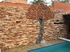 Costó pero creo que salió bien, que dicen? #murodepiedra #arbol #art #muro