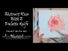 A simple demo to help you get started painting abstract florals with a palette knife! Pallette Knife Painting, Palette Knife, Painting Lessons, Art Lessons, Painting Classes, Abstract Canvas Art, Painting Abstract, Abstract Portrait, Acrylic Paintings