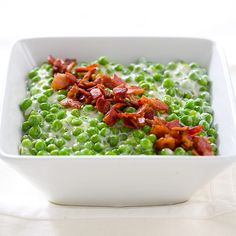 Creamy Peas with Bacon and Goat Cheese From Cook's Country