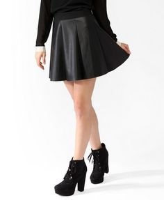 Faux Leather A-Line Skirt | FOREVER 21 - 2027704993