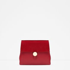 Image 1 of LEATHER MESSENGER BAG WITH GUSSETS from Zara