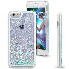 """iPhone 6 Case, NSSTAR iPhone 6 Case 4.7"""" (2014 Version),Liquid Case for iPhone 6,Case for iPhone 6,Hard Case for iPhone 6, Fashion Creative Design Flowing Liquid Floating Luxury Bling Glitter Sparkle Love Heart Hard Case for Apple iPhone 6 with 4.7 in..."""
