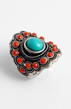 Vintage Handmade Tibetan Bracelet W Polished Carnelian 6-7.5 /& Earrings Sanskrit Symbol For Protection In Turquoise