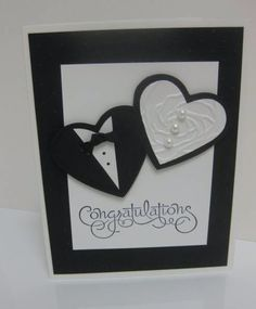 Another wedding card by lorriheiling - cards and paper crafts at splitcoaststampers diy wedding cards, Wedding Cards Handmade, Greeting Cards Handmade, Handmade Greetings, Paper Cards, Diy Cards, Wedding Shower Cards, Card Wedding, Wedding Cars, Wedding Invitations