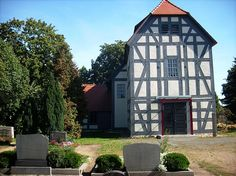 Half-timbered church in Alt Herzberg (Herzberg/Elster, Elbe-Elster district, Brandenburg)