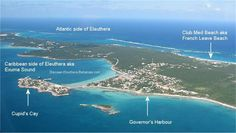Governor's Harbour is a central town and as you can see from this view, it's not very big at ALL!