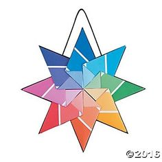 Paint Chip Kite Stars Craft Kit - 12pk Party Supplies Canada - Open A Party