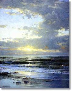 william trost richards | ... the Beach by William Trost Richards - Famous Oil Painting Reproduction