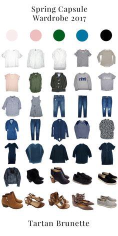 35 piece spring capsule wardrobe 2017