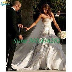 Sexy Sweetheart Mermaid Wedding Dresses Luxury Beading Tiered Sleeveless Backless