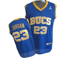 1b69b061b4d Men's Michael Jordan Authentic Blue Jersey: Nike #23 NBA Chicago Bulls Laney  Bucs High