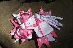 Horse hair clip www.littlesweetpeacloset.com