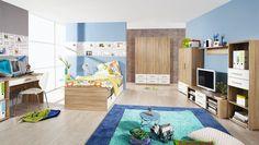 Jugendzimmer komplett Samira Sonoma Weiß 8390. Buy now at https://www.moebel-wohnbar.de/kinderzimmer-komplett-samira-jugendzimmer-7-teilig-sonoma-weiss-8390.html