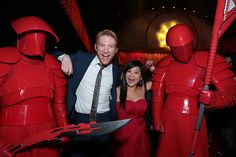 Domhnall Gleeson and Kelly Marie Tran at an event for Star Wars: Episode VIII - The Last Jedi (2017)