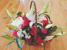 Flower basket by Miya's Elegant Designs for Mother's day