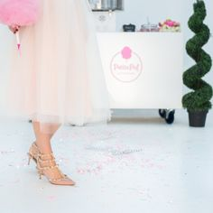 Tulle skirt and sparkly shoes