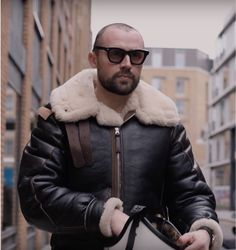 B3 Bomber Jacket, Bomber Jackets, Sheepskin Throw, Sheepskin Jacket, Mens Gear, Hooded Jacket, Winter Jackets, Fur, Coats