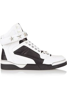 Givenchy - Tyson Sneakers In White And Black Leather - IT36