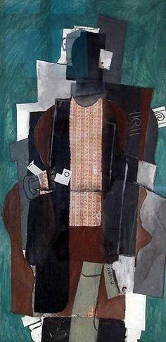 """Pablo Picasso - """"Man with pipe"""", 1911"""