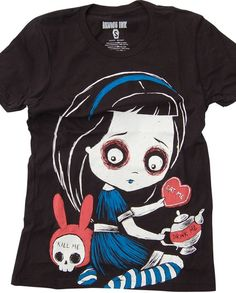056139b1c657 Akumu Ink Temptation Of Alice Girls T-Shirt - Buy Online Australia Beserk  Gotyckie Ubrania